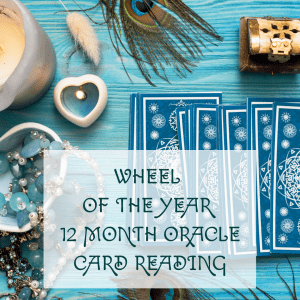 wheel of the year 12 Month oracle Card Reading